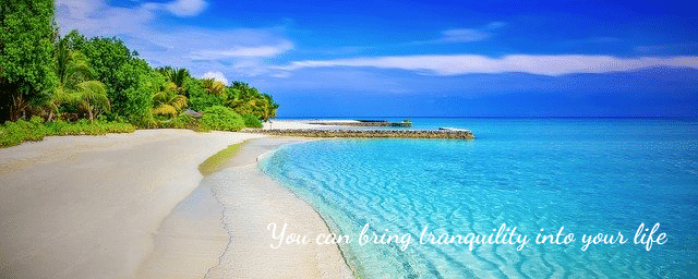 A relaxing beach can be a great remedy for people who experience continuous panic attacks